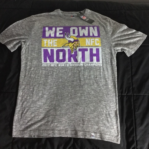 a9c585005 Majestic Minnesota Vikings We Own The North Tee